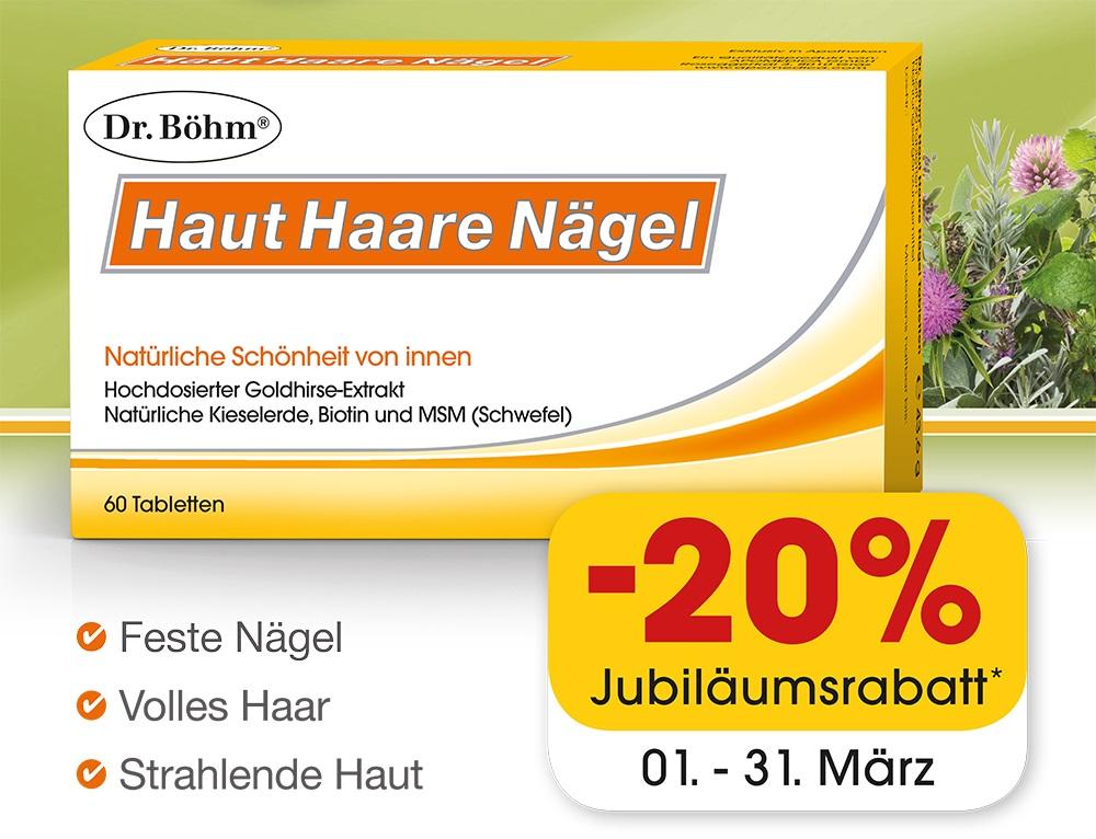 50 Jahre Dr. Böhm Aktion: Haut-Haare-Nägel -20%